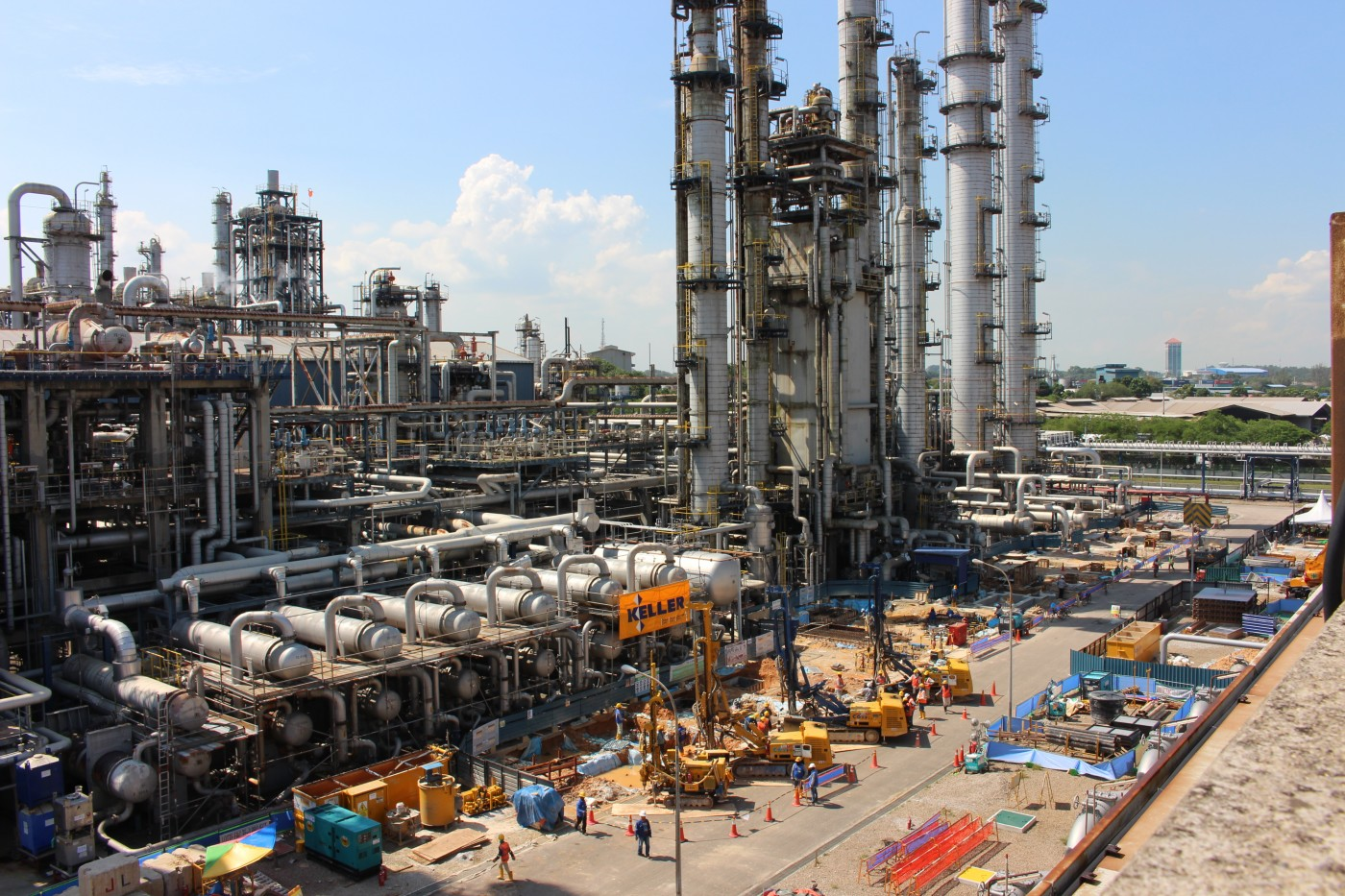 Keller oil gas and chemical project for Lotte