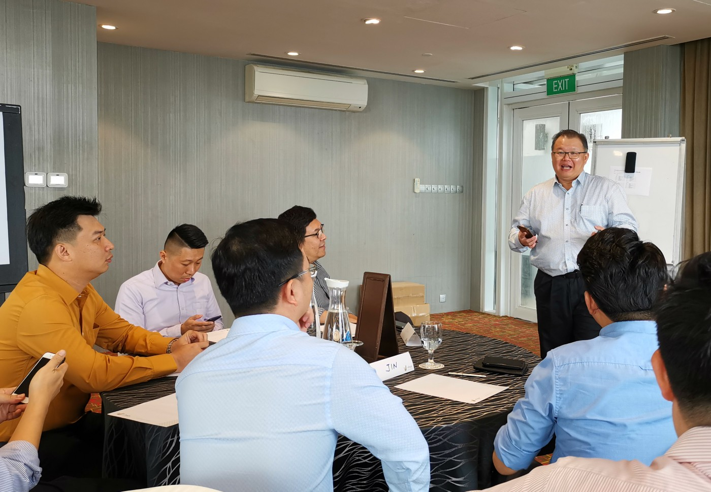 Keller ASEAN employees in a training sessions