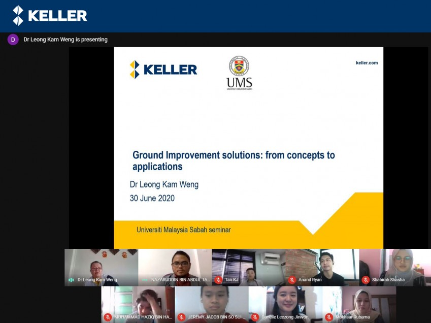Dr Leong Kam Weng Business Director of Keller ASEAN conducts online lecture