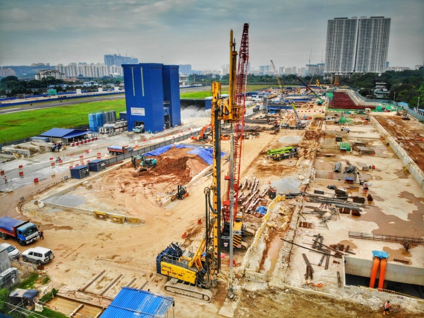 Keller ASEAN project in Malaysia for Klang Valley MRT Line 2 Bandar Malaysia